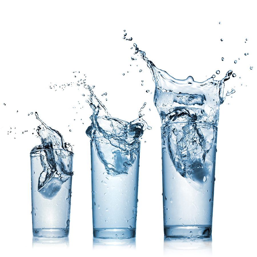 3 glasses of water
