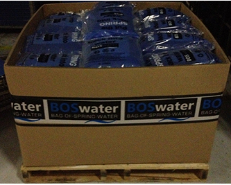 Box of spring water bags