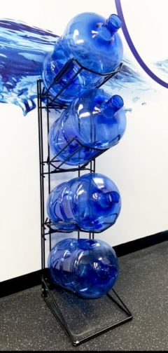 Rack for 4 x 15L water bottles